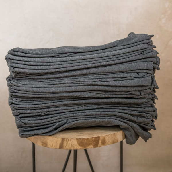 Graphite knitted cotton pillowcase