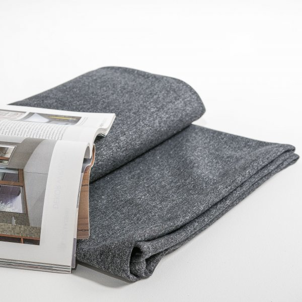 Graphite melange knitted cotton bed cover