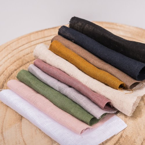Linen and wool samplers