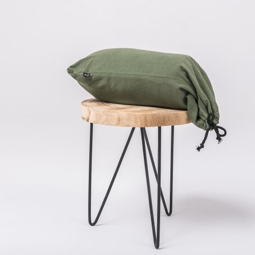 Olive green knitted cotton bedsheet