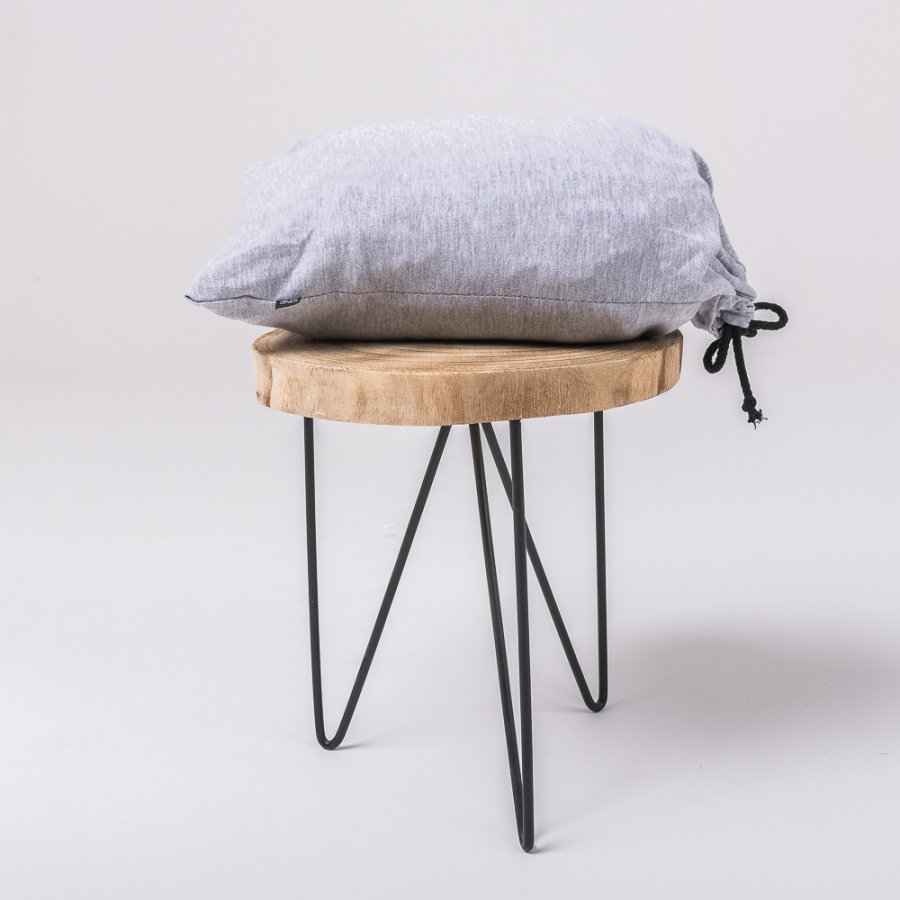 Gray knitted cotton bedsheet
