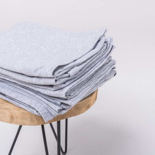 Gray knitted cotton pillowcase