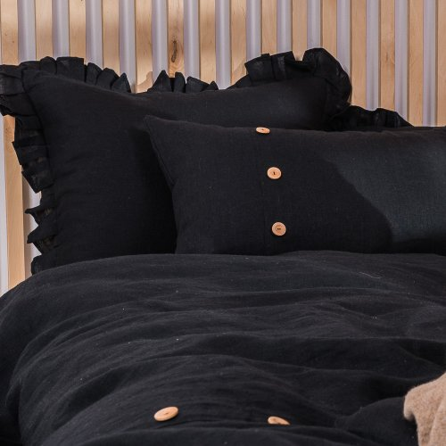 copy of Natural linen frilled pillowcase