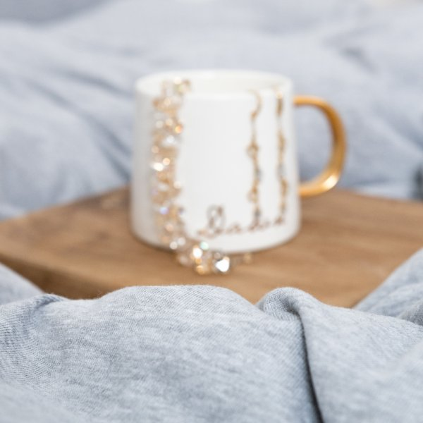 Grey knitted cotton bedding
