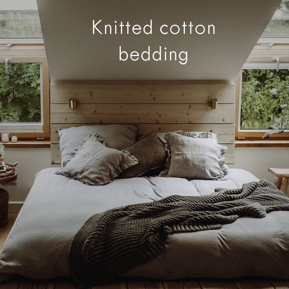 Knitted cotton bedding